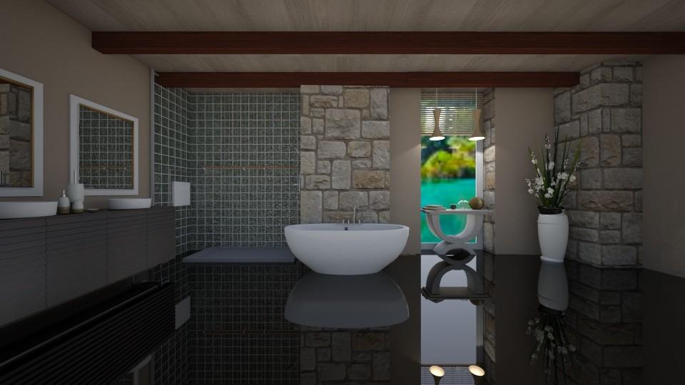 Ombre Bathroom - Bathroom - by Kate_141