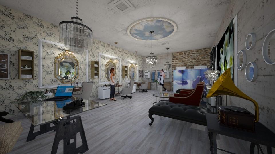 Hair_Salon_Vintage_Creation_ - Living room - by Nikos Tsokos