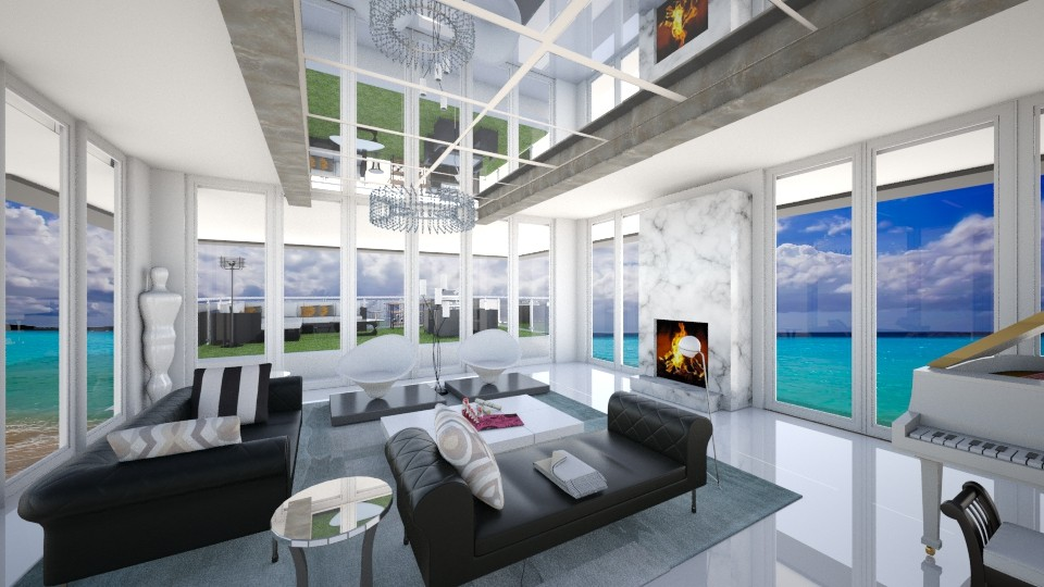 Carribean LR1 - Modern - Living room - by genevivechen