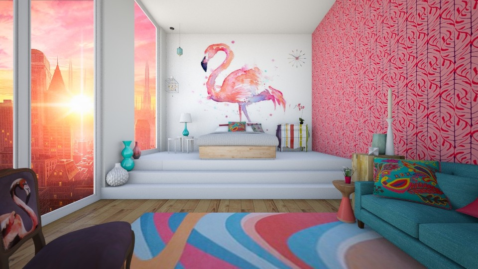 FLAMINGO - Modern - Bedroom - by Georgina Holly