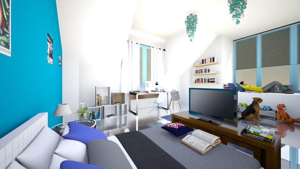 Boy room - Modern - Bedroom  - by christoforos