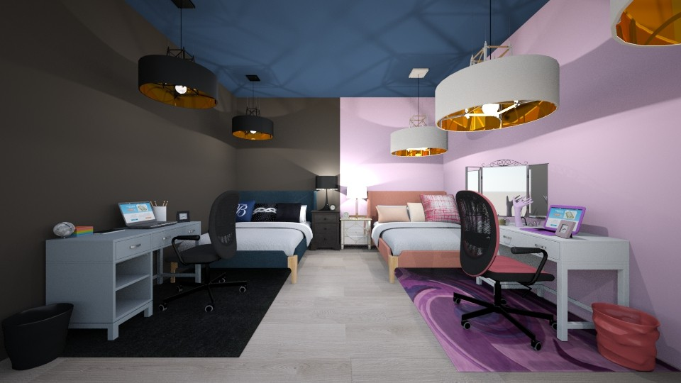 twin bedroom - Bedroom - by the ice magical unicorn