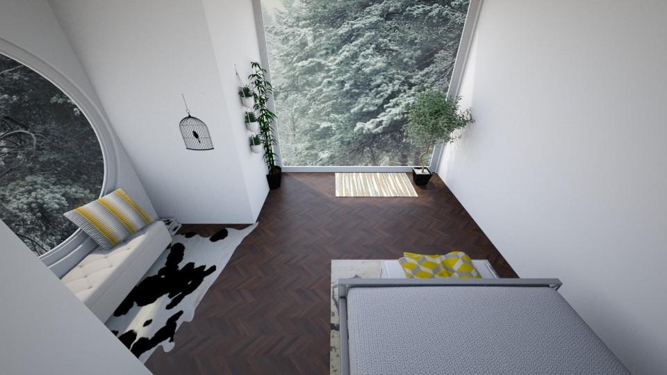 Circle Window Yaiza snow5 - Bedroom - by yaizalloriginal