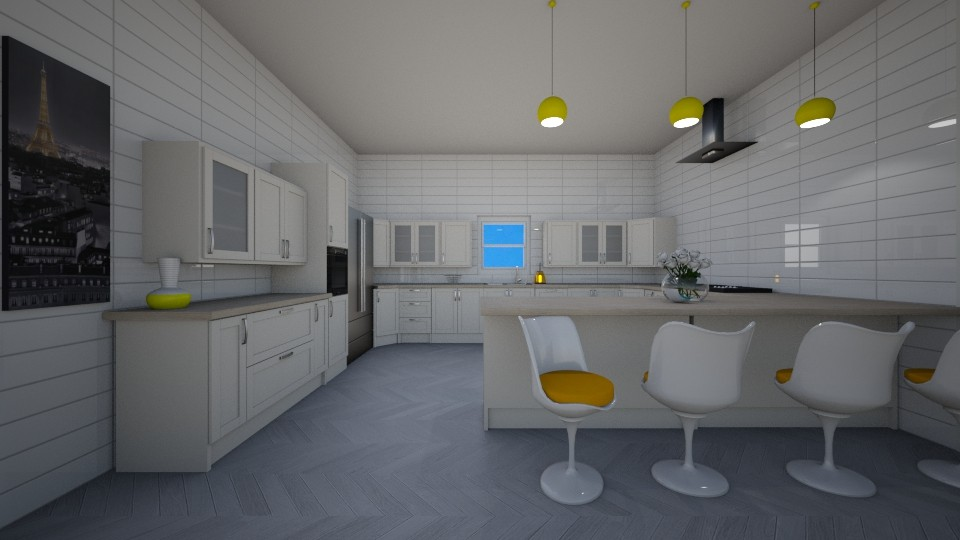yellow hint kitchen - by zwsclb