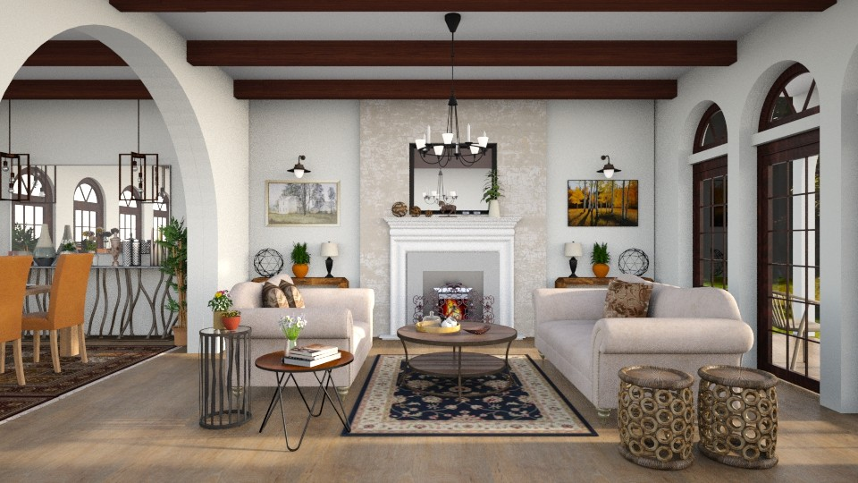 Santa Barbara style - Living room - by Lilaah