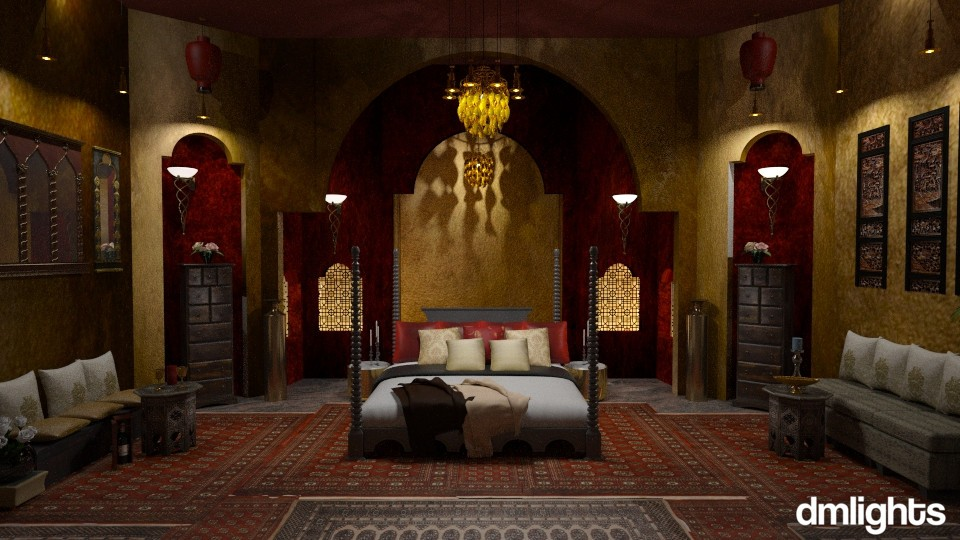 Love in Damascus - Bedroom  - by DMLights-user-1468788
