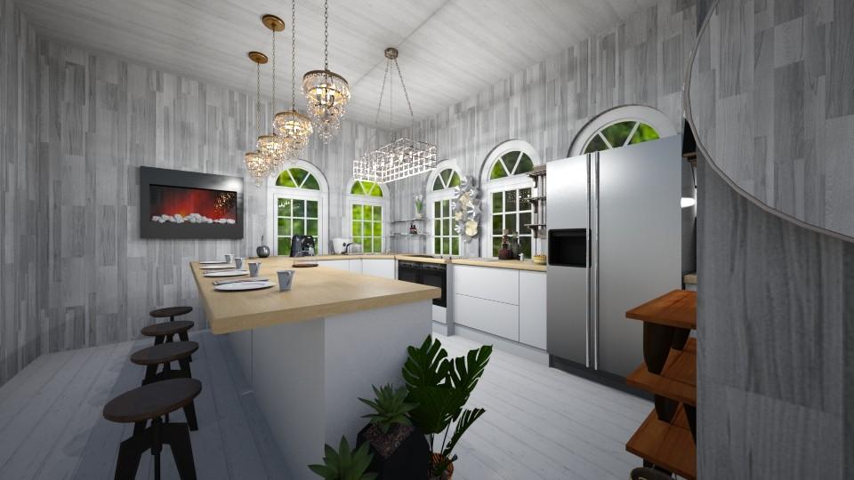 Nice cottage kitchen - Kitchen  - by I_love_my_dog_icecream_and_cookie