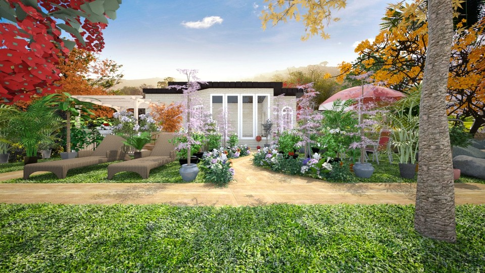 garden_and_pool1 - Garden - by Lucy Miranda