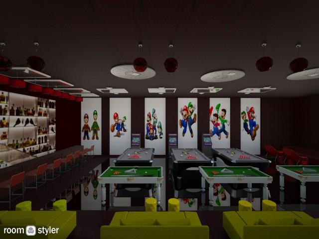 Mario and Luigi snooker b - by lovemydecor