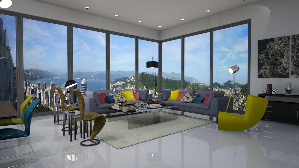 Wellington NZ View - Modern - Living room - by LadyVegas08