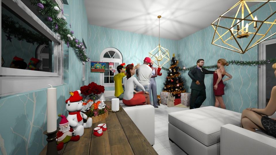 christmas - Living room - by yukicrossnowblood