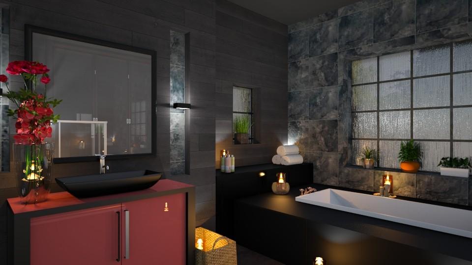 Dark Bathroom - by yonvie