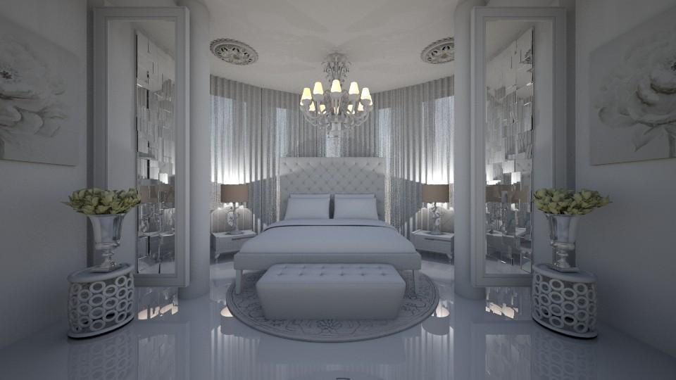 White room - Feminine - Bedroom - by kristenaK