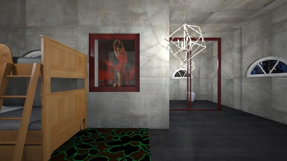 dance studio room - Bedroom - by westernwind