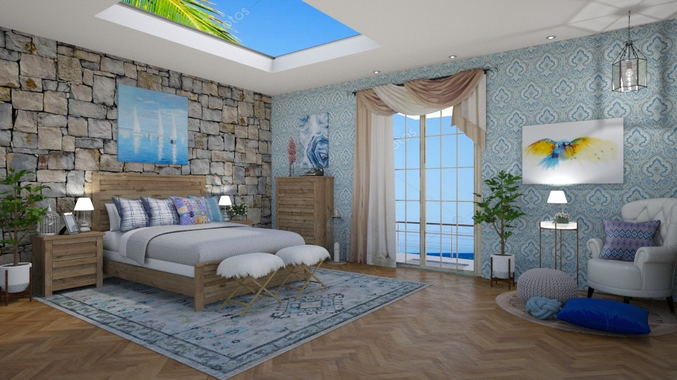 Nautical Bedroom - by lizasvetlin