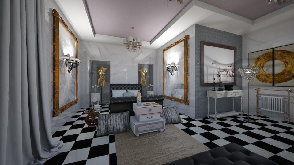 Black_White_Gold - Modern - Bathroom - by Nikos Tsokos