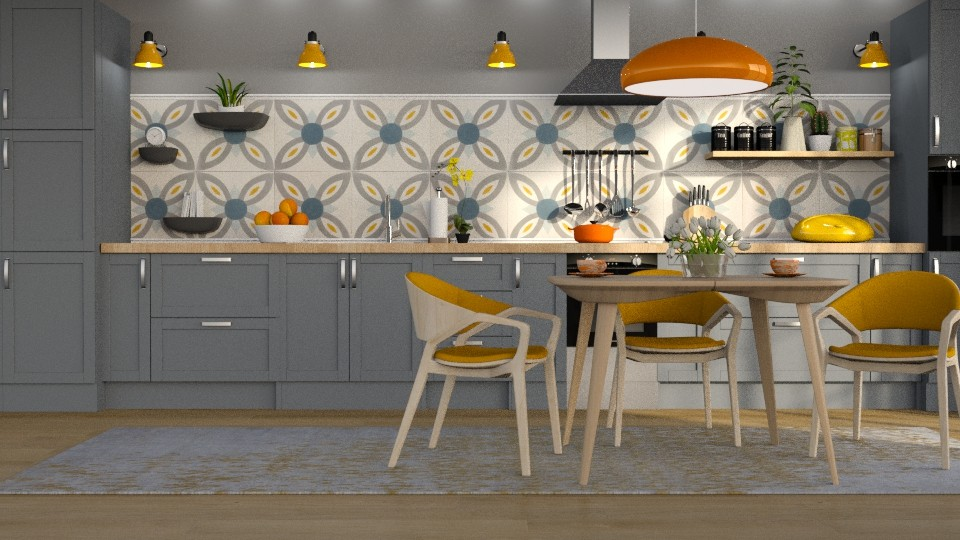 Orange Pop - Kitchen  - by meggle