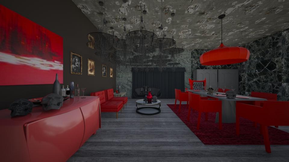 True Blood Dinner. - Modern - Dining room - by Calolynn