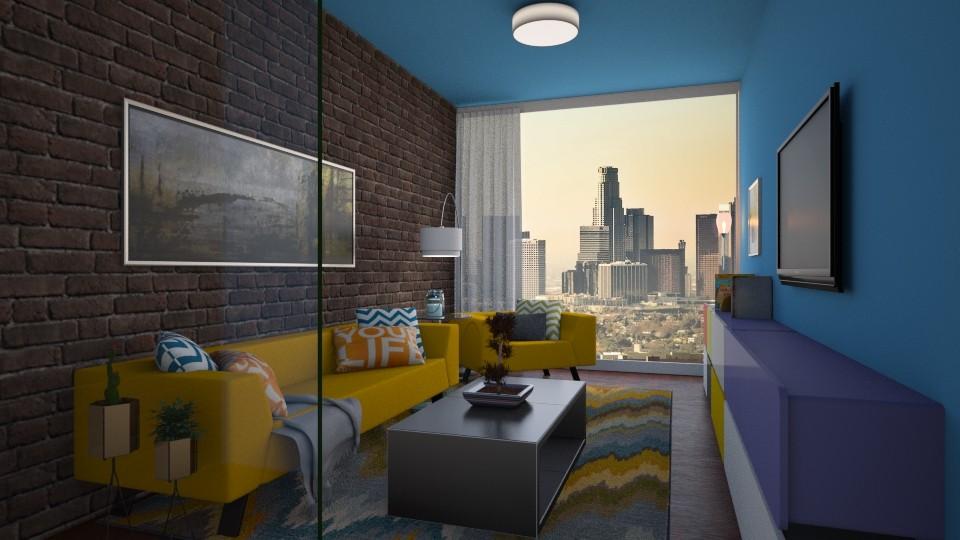 Colored Living - Classic - Living room - by Bekah Lynn