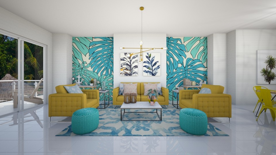 Tropical Life - Living room - by serenellc27