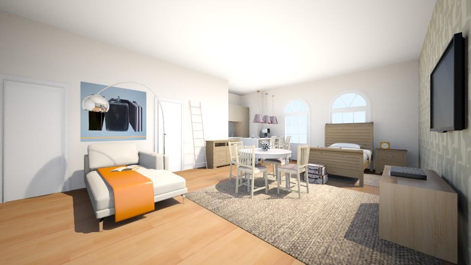 APARTAMENTO-MONOAMBIENTE - Bedroom  - by Jenni Leguiza