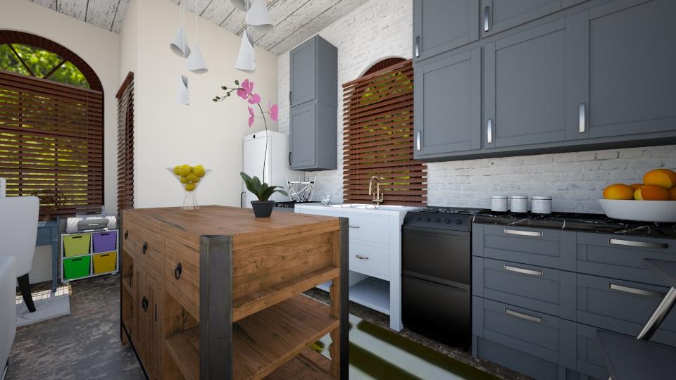 neutral kitchen - Country - Kitchen - by renne