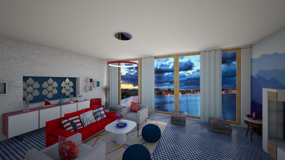 redblue - Living room - by Tara T
