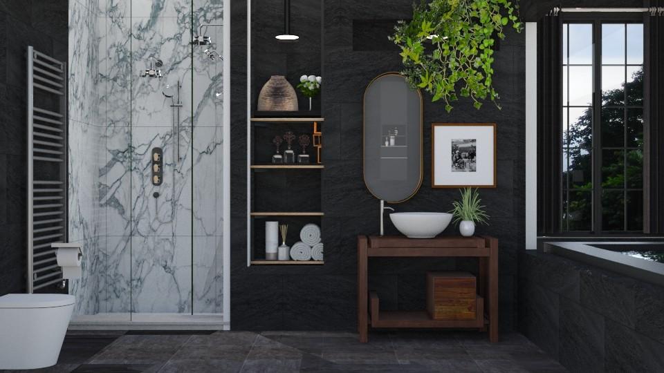 Dark Bathroom - by randomglitter