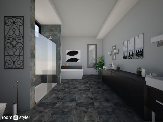 bathroom grey - Bathroom - by AndreaMTorres1