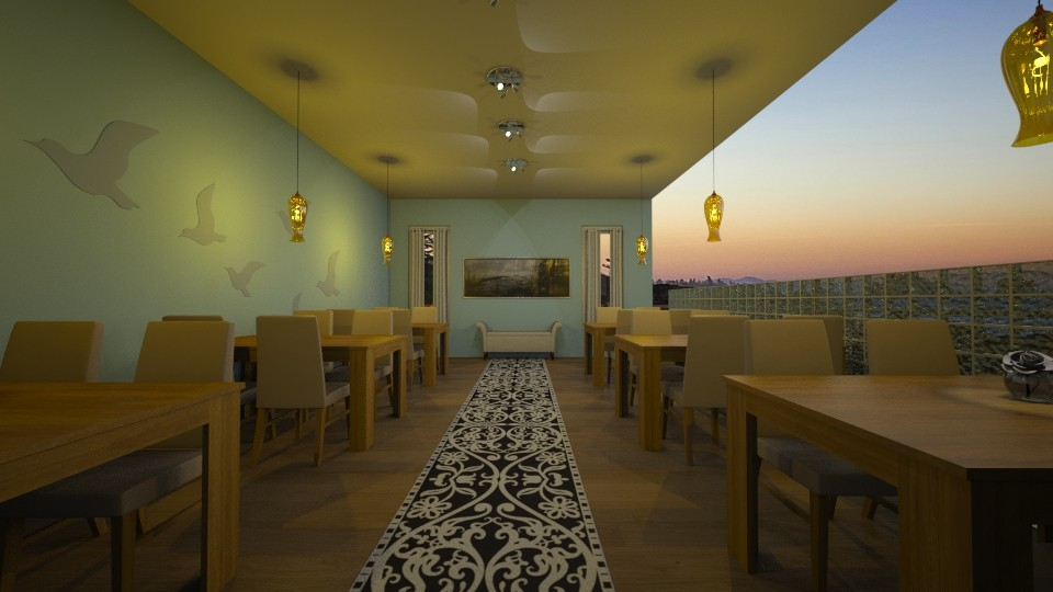 design 8 - Dining room - by silent scream