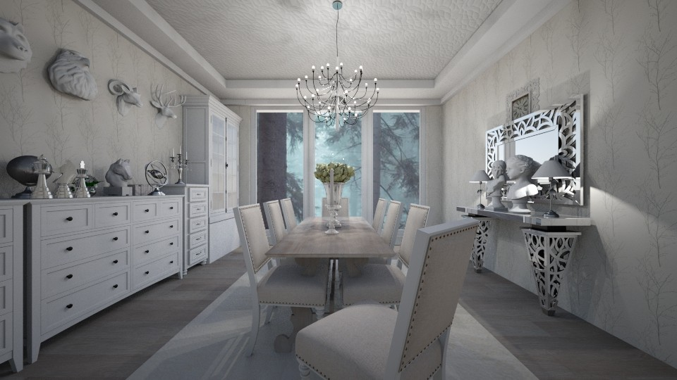 White Dine - Classic - Dining room - by kristenaK