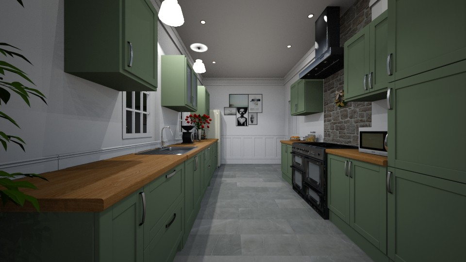 Galley Kitchen 2 - Classic - Kitchen  - by GIANNI VANCOMPERNOLLE