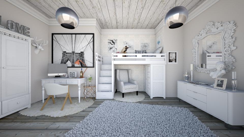 White - Bedroom - by miaxxx