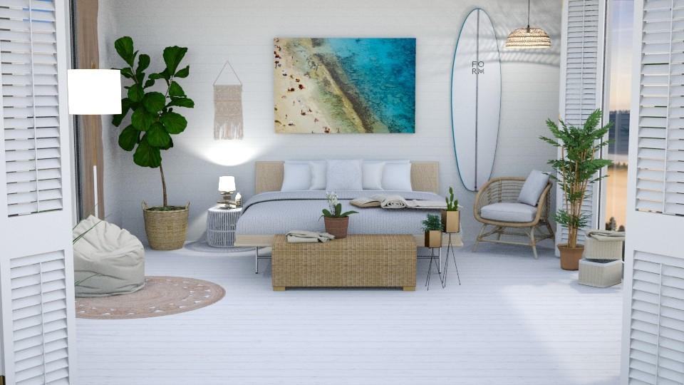 beachy bliss - Bedroom  - by Teagan123
