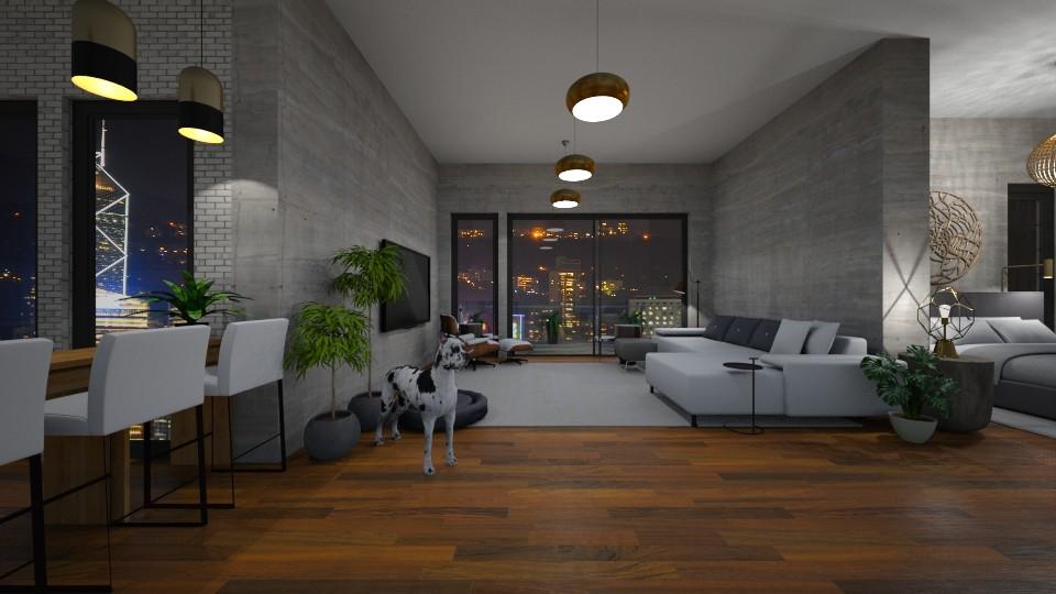 apt1 - Living room  - by crz