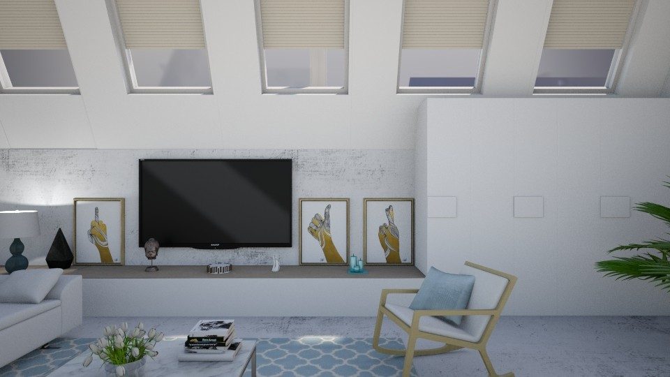 Blue Bleu Blou - Living room - by han_x
