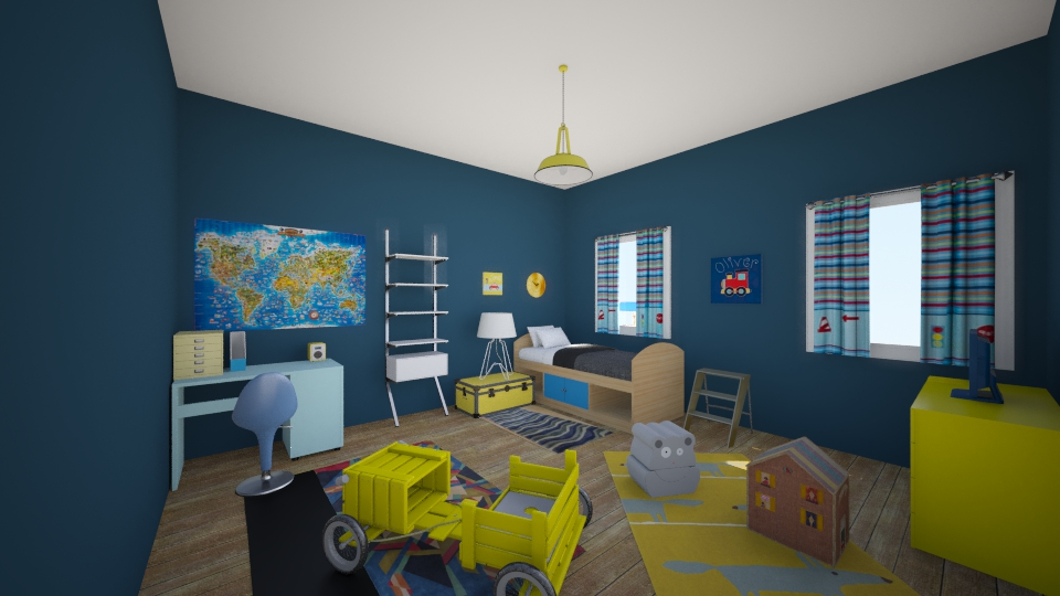 blue-yellow room - Modern - Kids room  - by eleniarch