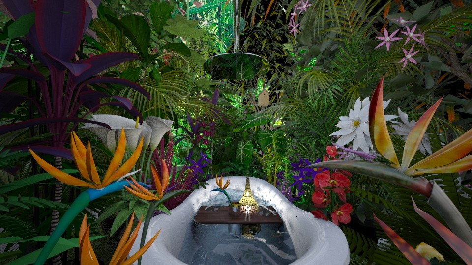 Birds of Paradise Jungle - Bathroom - by AlocinB