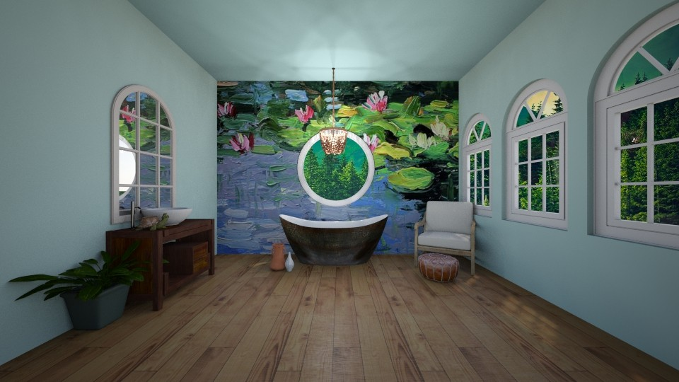 Lily Pond Bathroom - Bathroom  - by MearStyle