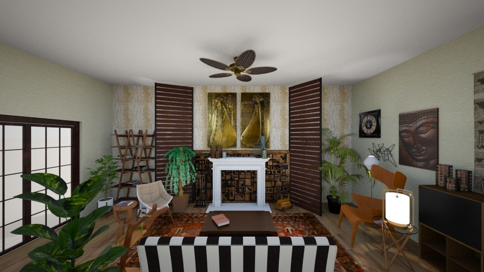boho living room dining - by mmanes