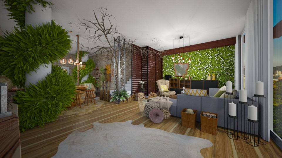 Plants In The Living Room - Living room - by Vlad Silviu