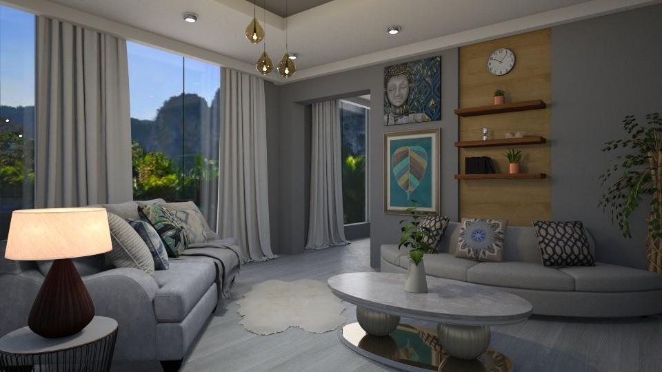 Shades of Grey - Minimal - Living room  - by Veny Mully
