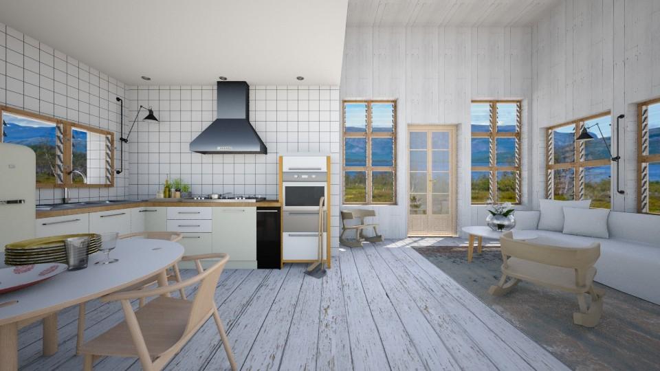 swedish summer house - Kitchen  - by amandafern