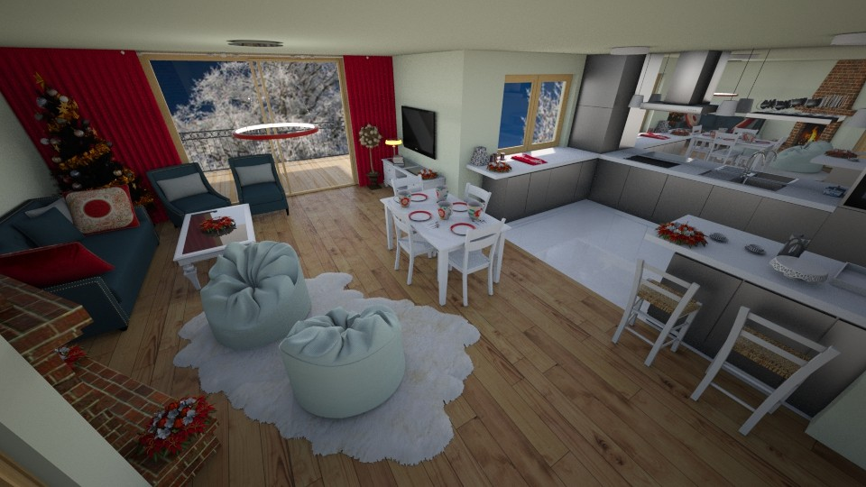wnetrze - Living room - by pasja_