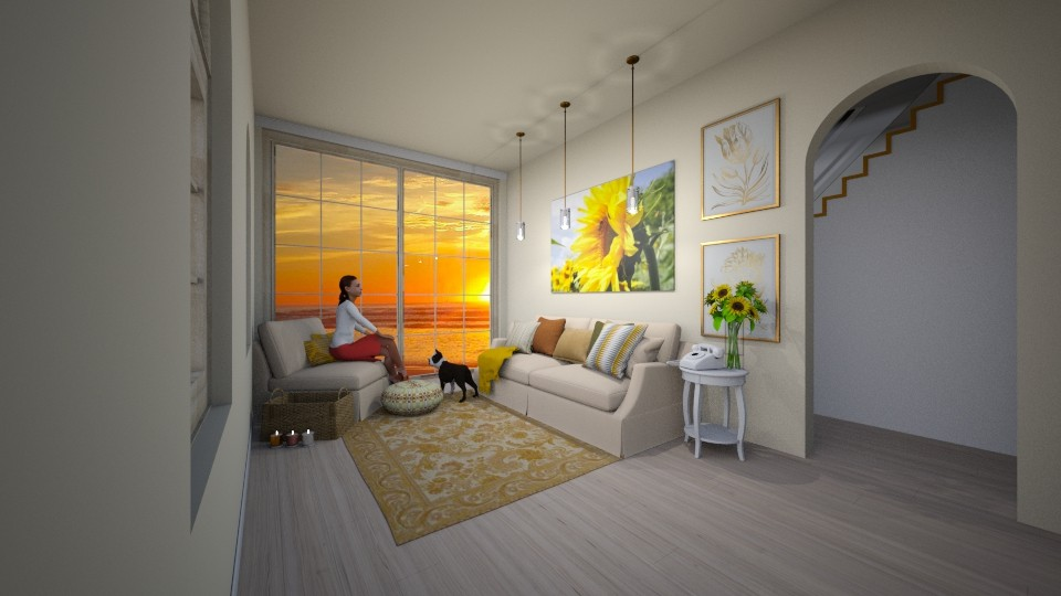Sunflower Living Room - Living room  - by MearStyle