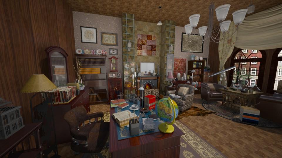 study - Vintage - Living room  - by aleya
