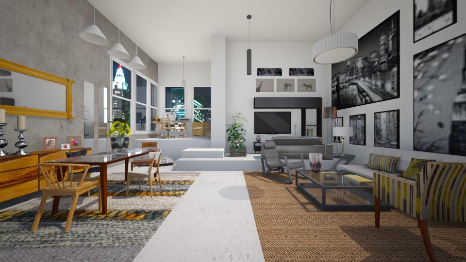 Fresh living room - by Themis Aline Calcavecchia