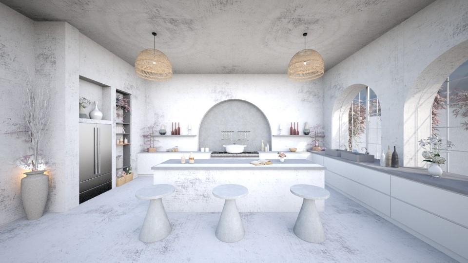 concrete kitchen - Kitchen  - by Chiara Amadei