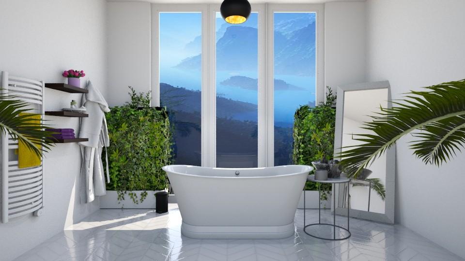 Green bathroom - Bathroom - by Maddie_Grace_