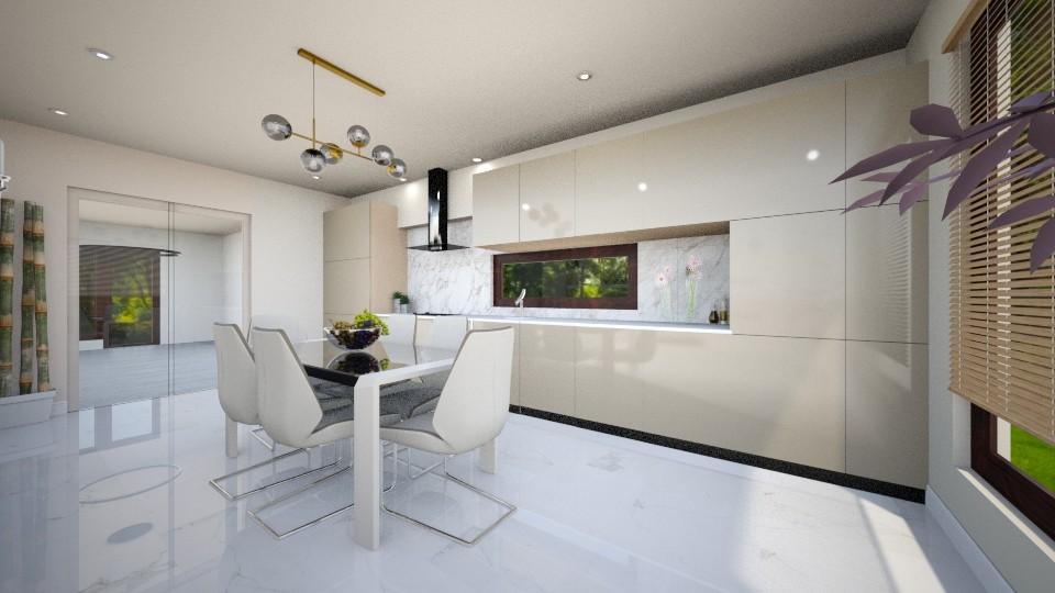 light crem kitchen 6 - Glamour - Kitchen - by Bianca Interior Design